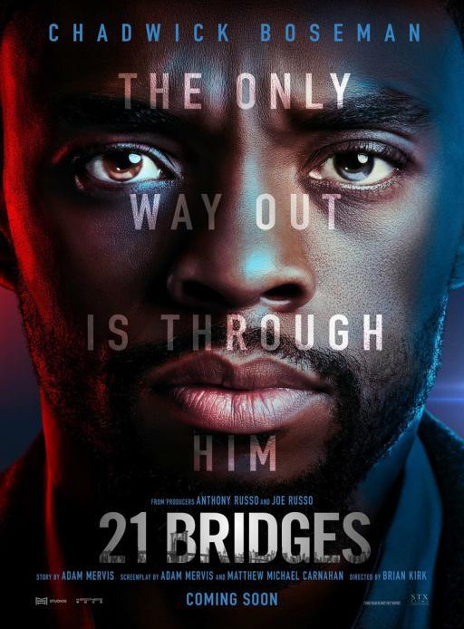 Affiche du film 21 Bridges - actuellement en salle au cinéma Agora