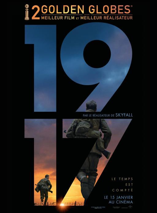 Affiche du film 1917 - actuellement en salle au cinéma Agora