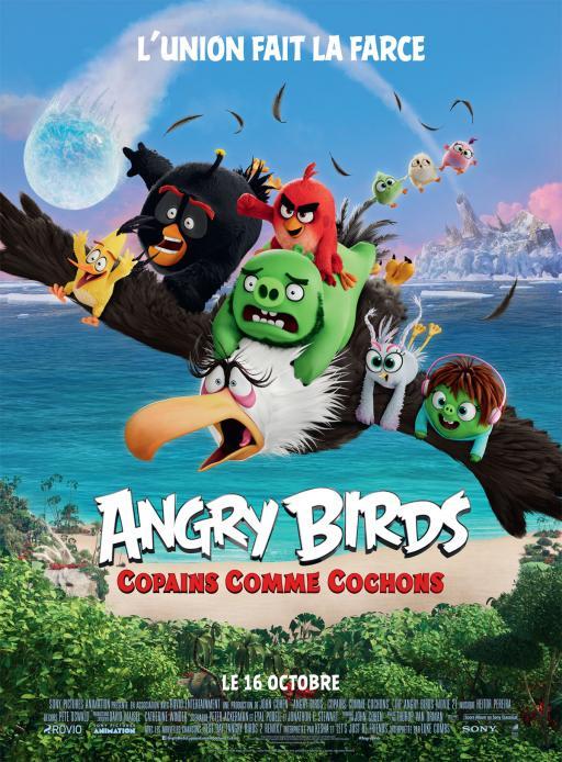 Affiche du film Angry Birds : Copains comme cochons - actuellement en salle au cinéma Agora