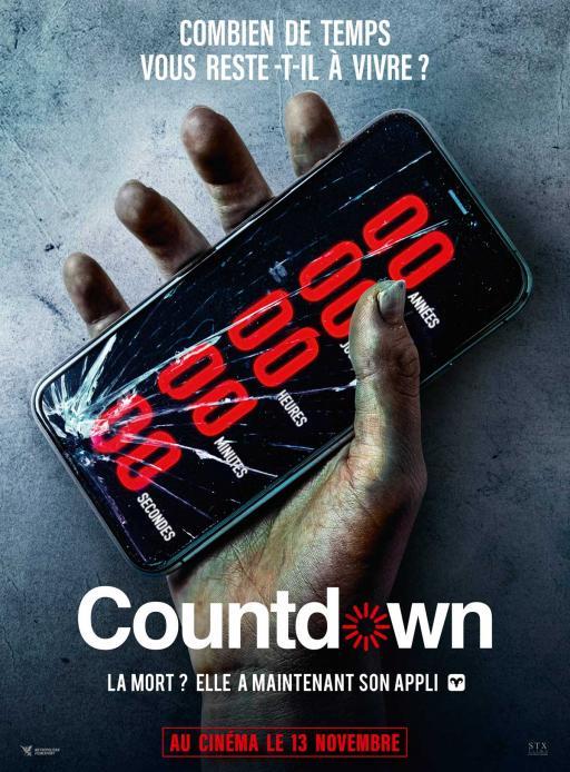 Affiche du film Countdown - actuellement en salle au cinéma Agora