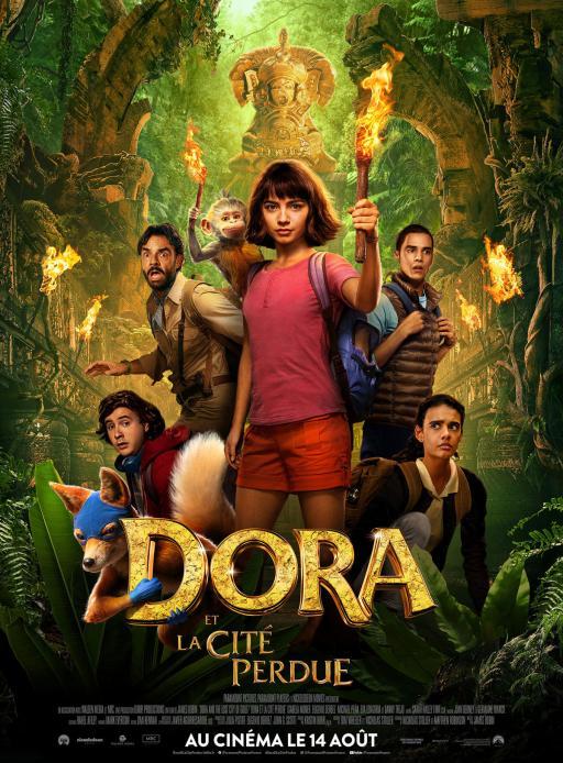 Affiche du film Dora et la Cité perdue - actuellement en salle au cinéma Agora