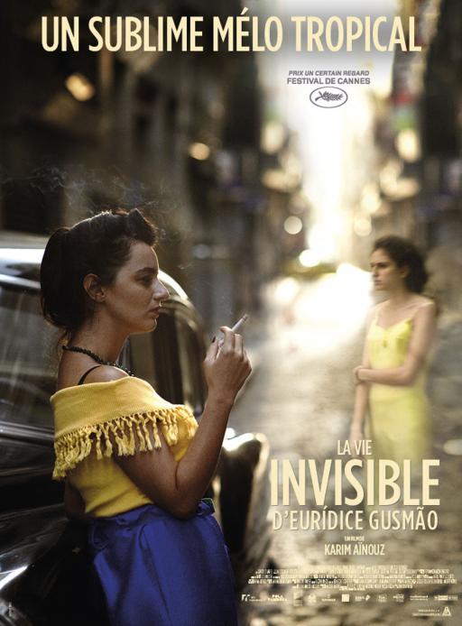Affiche du film La Vie invisible d'Eurídice Gusmão - actuellement en salle au cinéma Agora