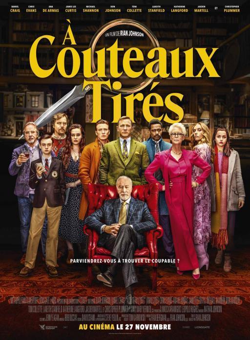 Affiche du film À couteaux tirés - actuellement en salle au cinéma Agora