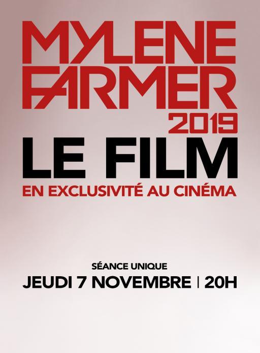 Affiche du film Mylène Farmer 2019 - Le Film - actuellement en salle au cinéma Agora