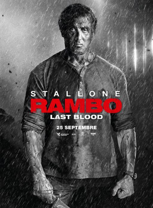Affiche du film Rambo: Last Blood - actuellement en salle au cinéma Agora