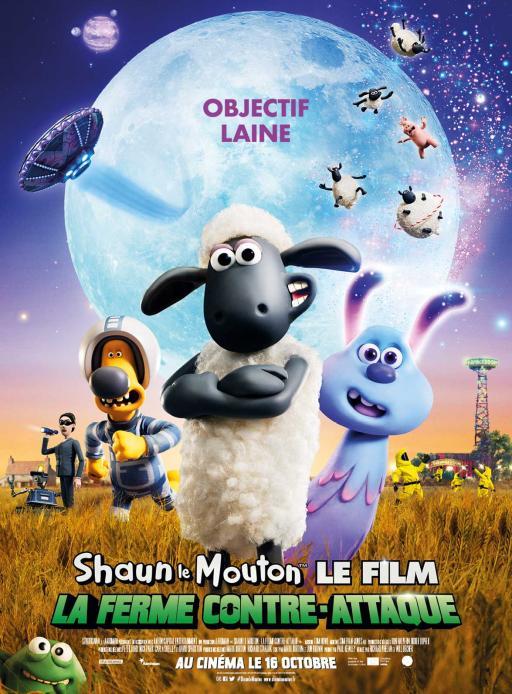 Affiche du film Shaun le Mouton Le Film : La Ferme Contre-Attaque - actuellement en salle au cinéma Agora