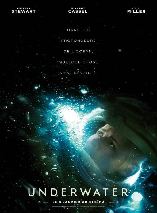 Affiche du film Underwater - actuellement en salle au cinéma Agora